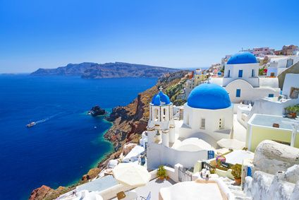 Greece white houses