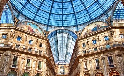 Milan, shoppin center, Italy
