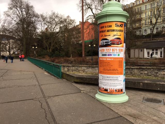 Autopůjčovna Sixt Karlovy Vary - plakát