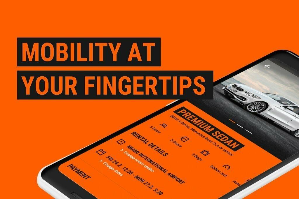 Sixt mobilní aplikace