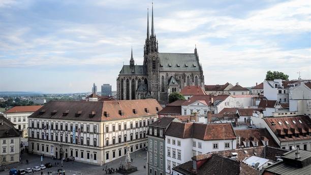 Brno centrum panorama