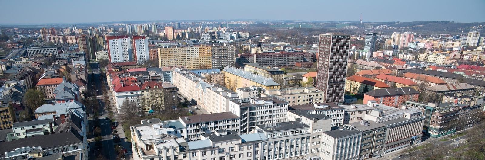 Ostrava letecké panorama