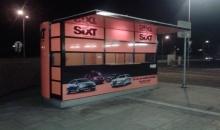 Sixt car rental parking at Ostrava Train Station