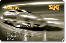 The Gold Sixt Card